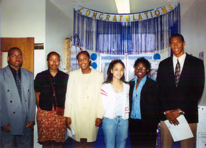 Afro American Cultural & Historical Society scholarship recipients in 2002