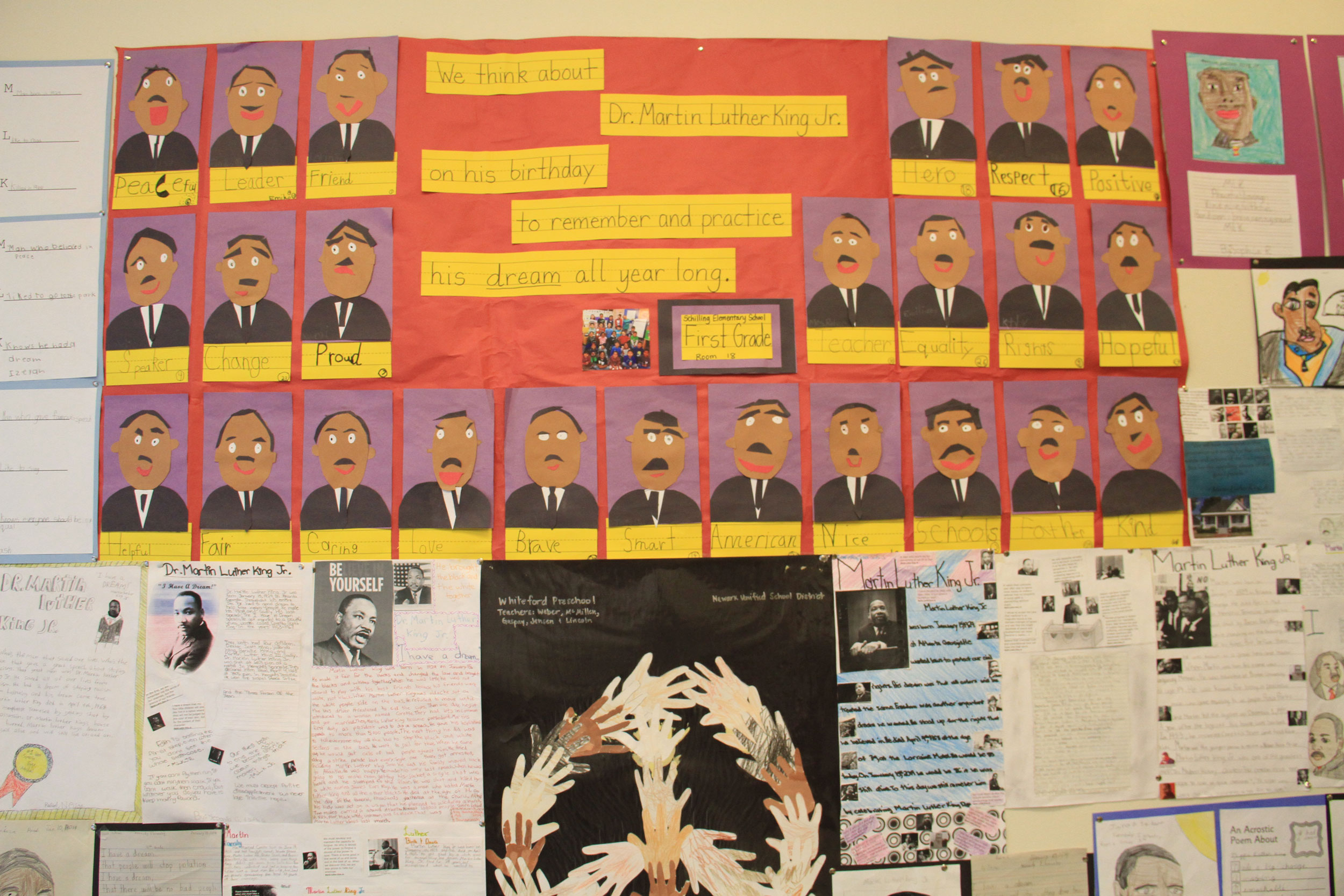 Children's Artwork In Tribute To Dr. Martin Luther King Jr.