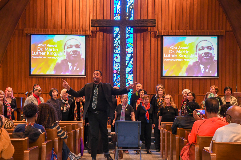 A Local Choir Sings At The 2019 Dr. King Celebration